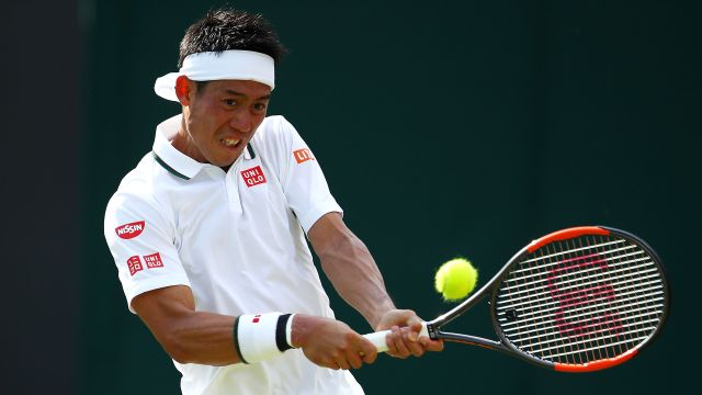 (24) Nishikori vs. Gulbis (Gentlemen's Fourth Round)