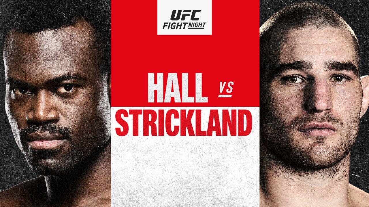 Watch UFC Fight Night on ESPN: Hall vs. Strickland 7/31/21