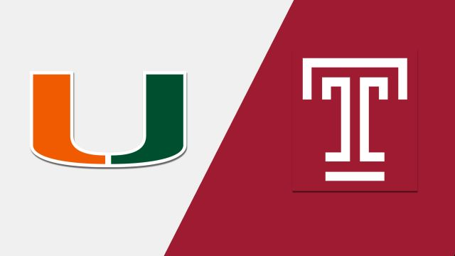 Miami vs. Temple (M Basketball)