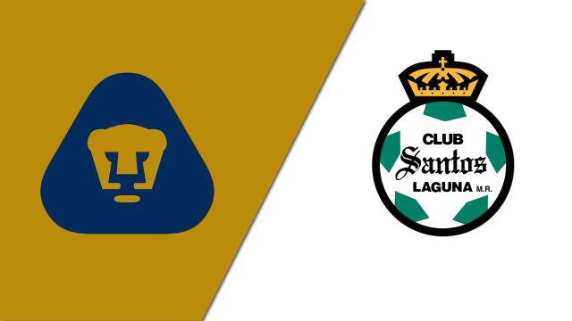 In Spanish-Pumas de la UNAM vs. Santos Laguna (Octavos de final - Partido de vuelta) (Copa MX)