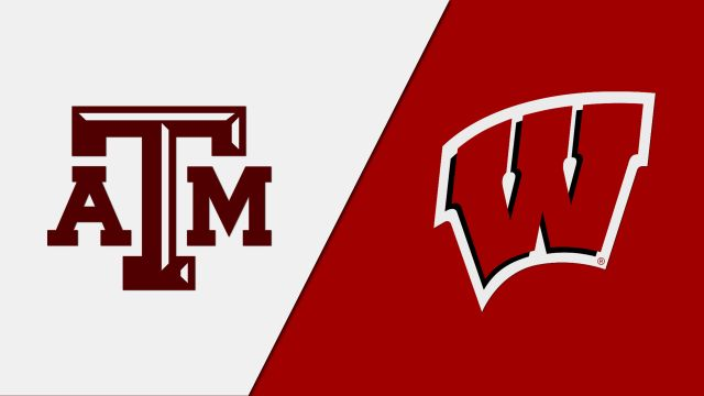 In Spanish-Texas A&M vs. Wisconsin (Regional Semifinal #1) (NCAA Women's Volleyball Tournament)