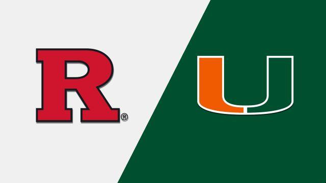 Rutgers vs. #7 Miami (Baseball)