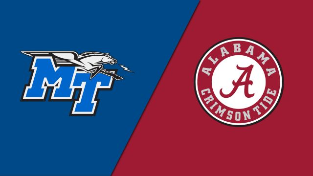 Middle Tennessee vs. Alabama (Baseball)