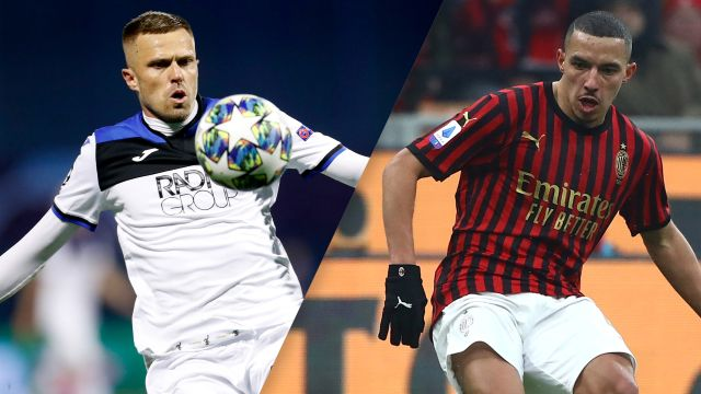 In Spanish-Atalanta vs. AC Milan (Serie A)