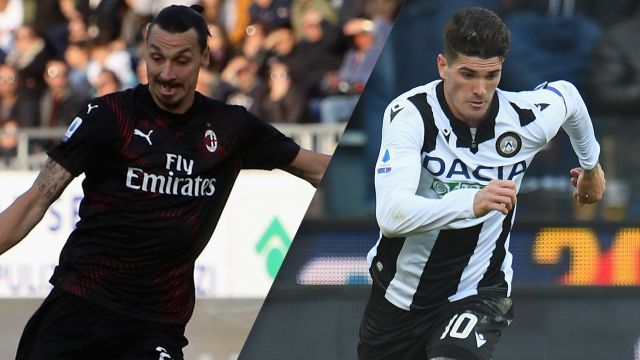 Sun, 1/19 - In Spanish-AC Milan vs. Udinese (Serie A)