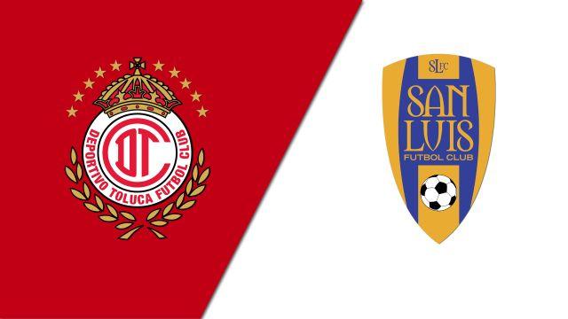 In Spanish-Diablos Rojos del Toluca vs. Atlético San Luis (Jornada 11) (Liga MX)