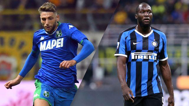 In Spanish-Sassuolo vs. Inter (Serie A)