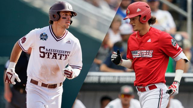 #6 Mississippi State vs. #7 Louisville (Game 10) (College World Series)