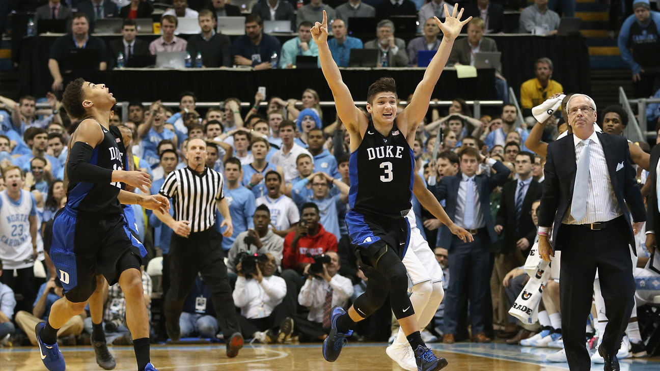 #20 Duke vs. #5 North Carolina - 2/17/2016 (re-air)