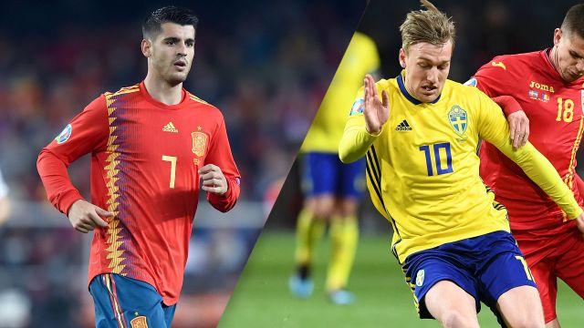 Spain vs. Sweden (UEFA European Qualifiers)