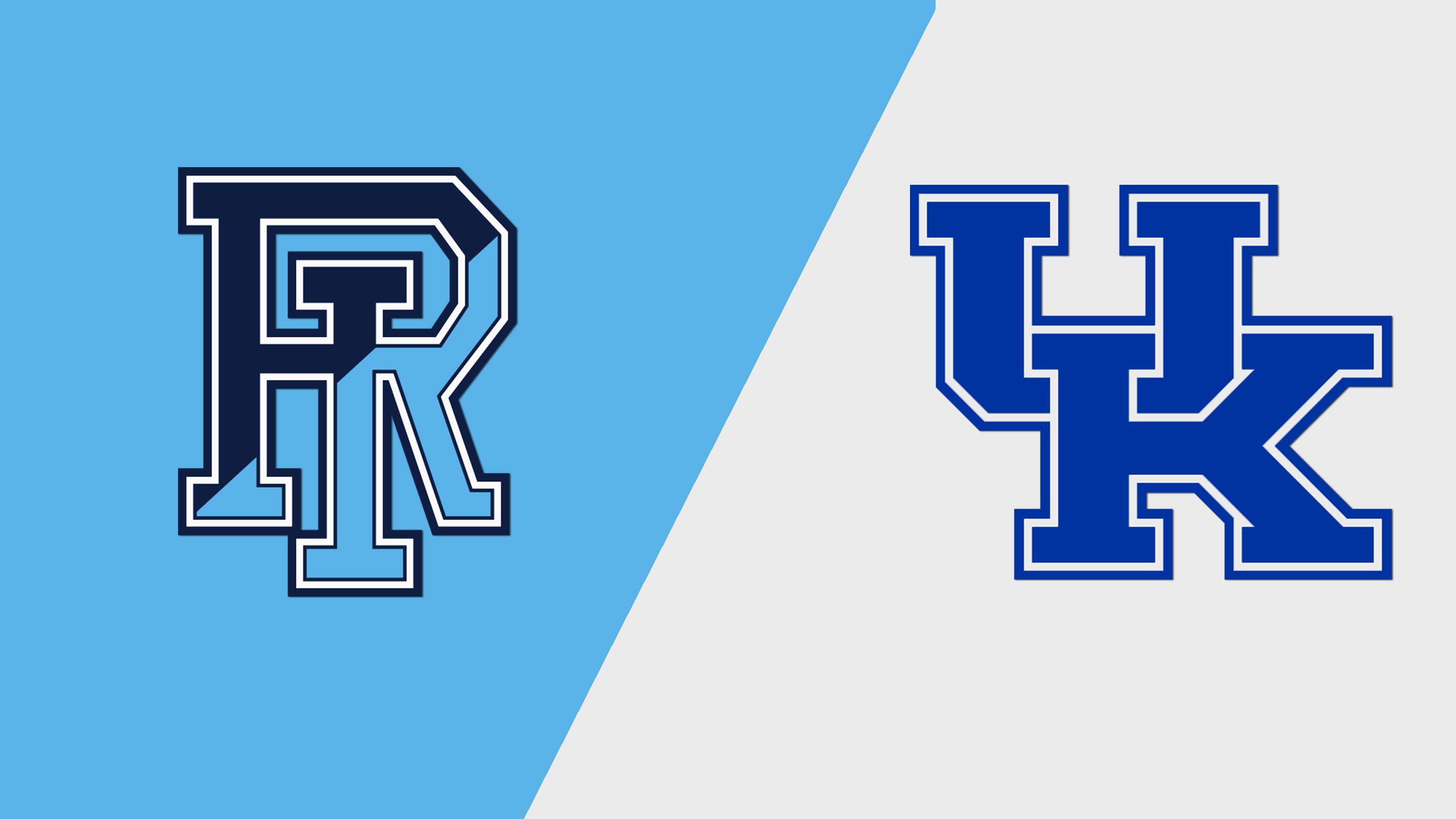 Rhode Island vs. #19 Kentucky (W Basketball)