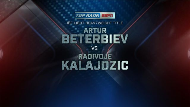 Beterbiev vs. Kalajdzic Main Event
