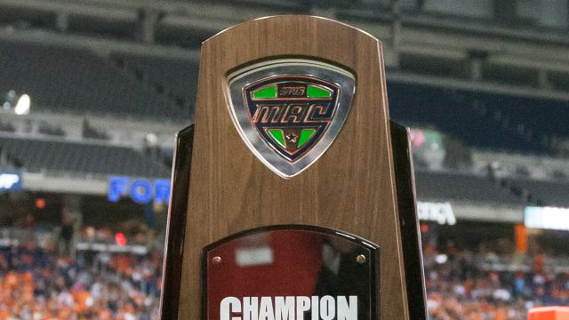 Marathon MAC Championship Game Trophy Ceremony (Football)