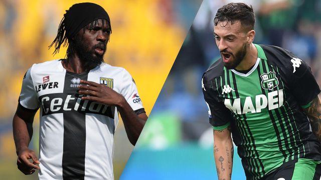 In Spanish-Parma vs. Sassuolo (Serie A)