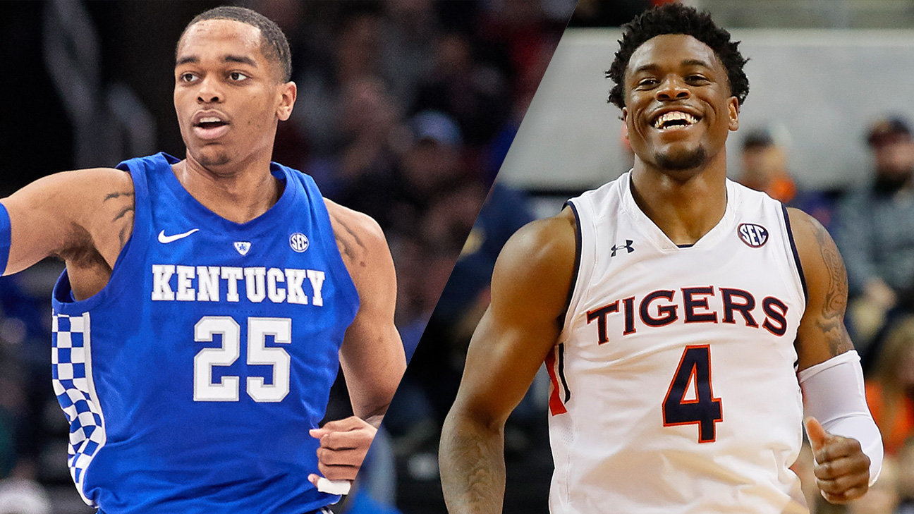 #12 Kentucky vs. #14 Auburn (M Basketball) (re-air)