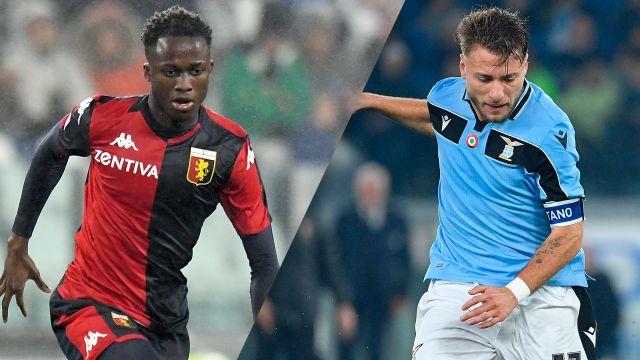 In Spanish-Genoa vs. Lazio (Serie A)