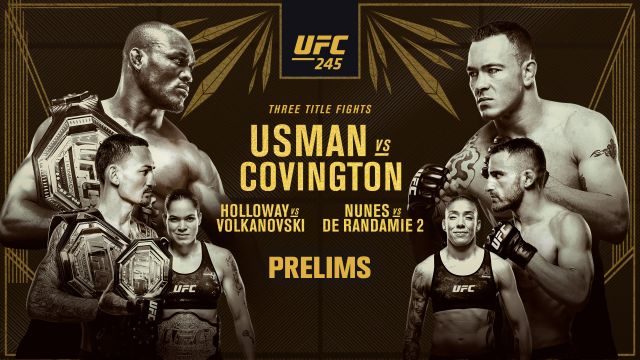 UFC 245: Usman vs. Covington presented by Modelo (Prelims)