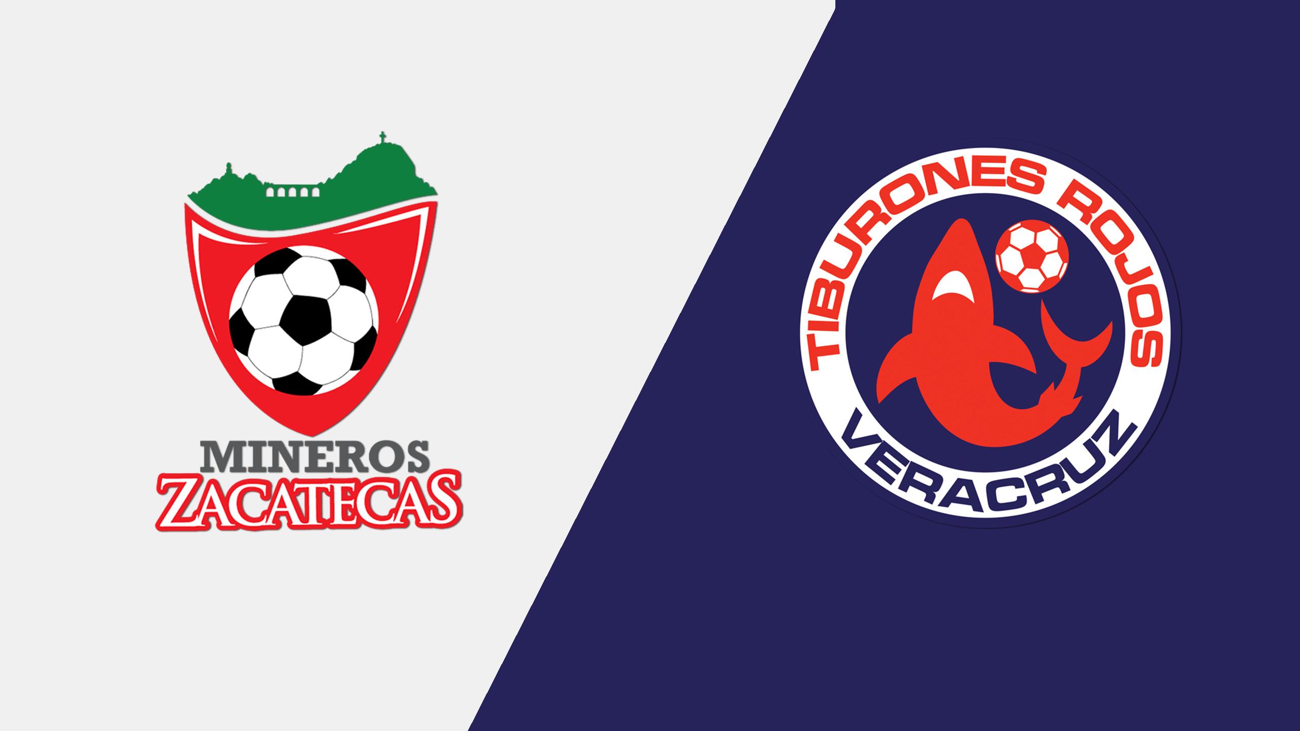 In Spanish - Mineros de Zacatecas vs. Tiburones Rojos de Veracruz (Jornada 2) (Copa MX)