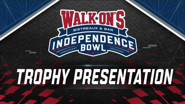 Walk-On's Independence Bowl Trophy Ceremony (Bowl Game)