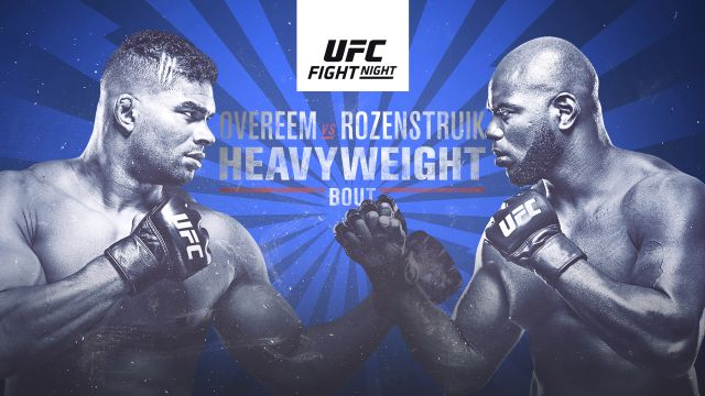 UFC Fight Night presented by Modelo: Overeem vs. Rozenstruik (Main Card)