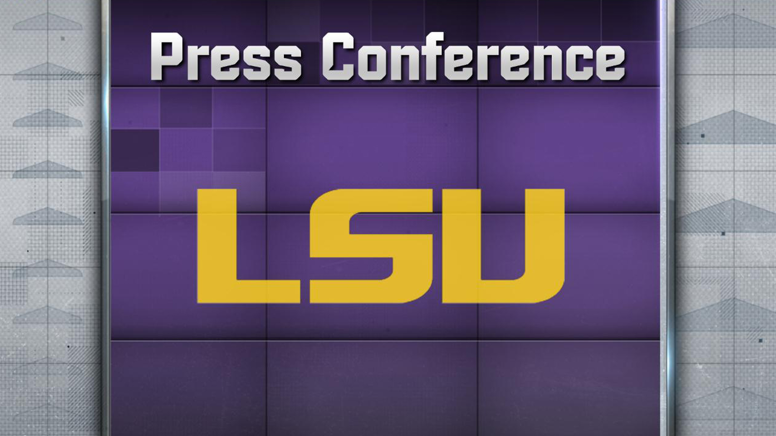 LSU Football Press Conference