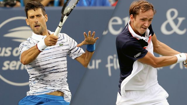 Sat, 8/17 - (1) Djokovic vs. (9) Medvedev (Men's Semifinal)