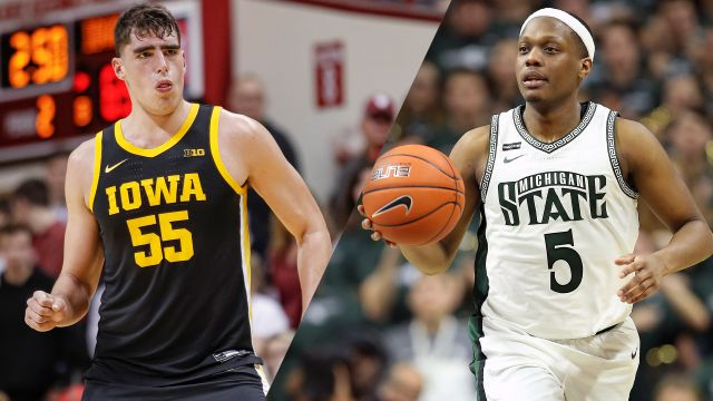 Tue, 2/25 - #18 Iowa vs. #24 Michigan State (M Basketball)