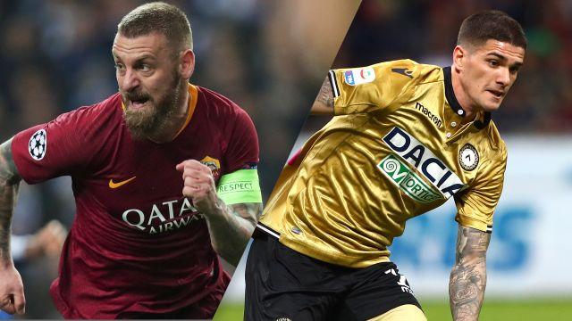 In Spanish-AS Roma vs. Udinese (Serie A)