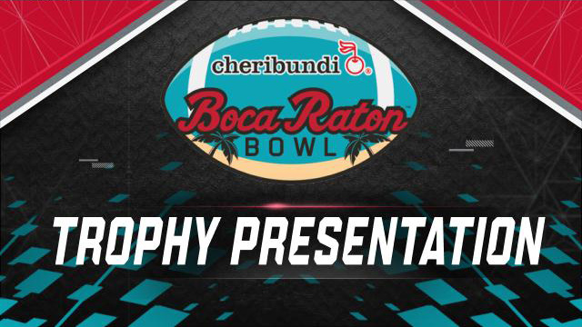 Cheribundi Boca Raton Bowl Trophy Ceremony (Bowl Game)
