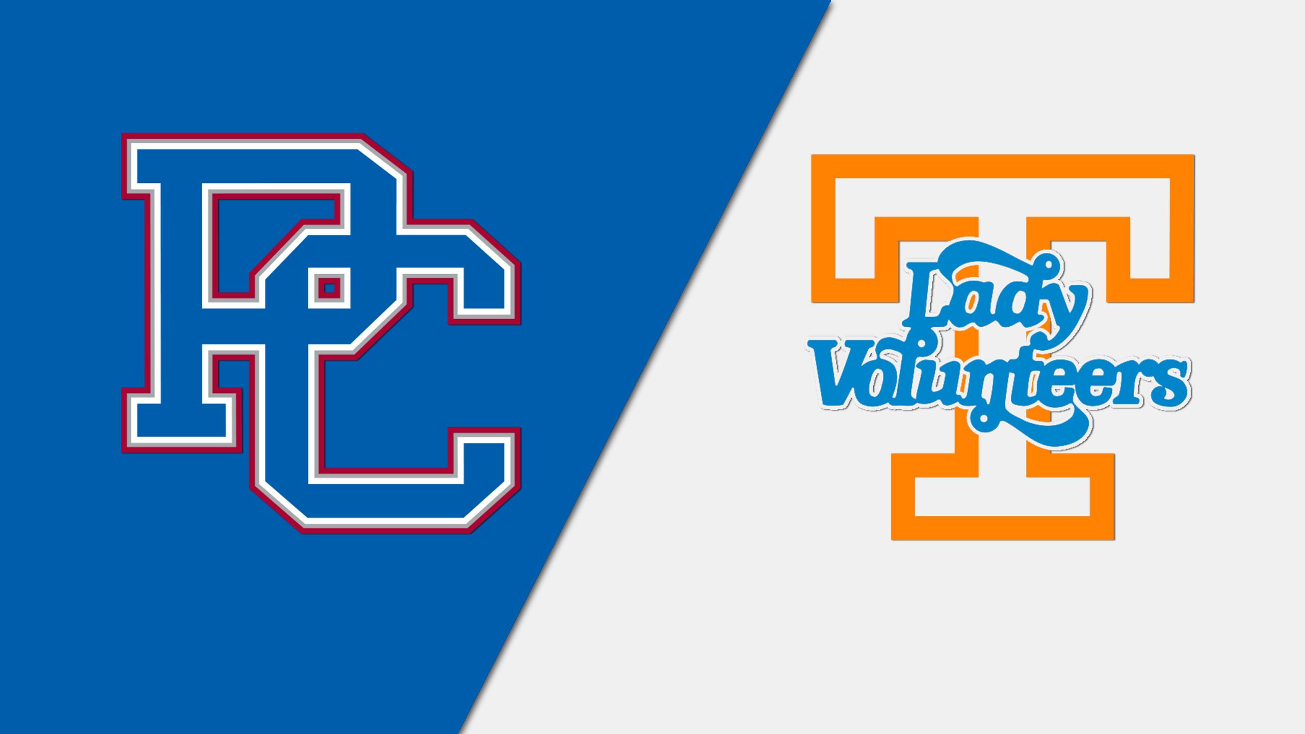 Presbyterian vs. #11 Tennessee (W Basketball)