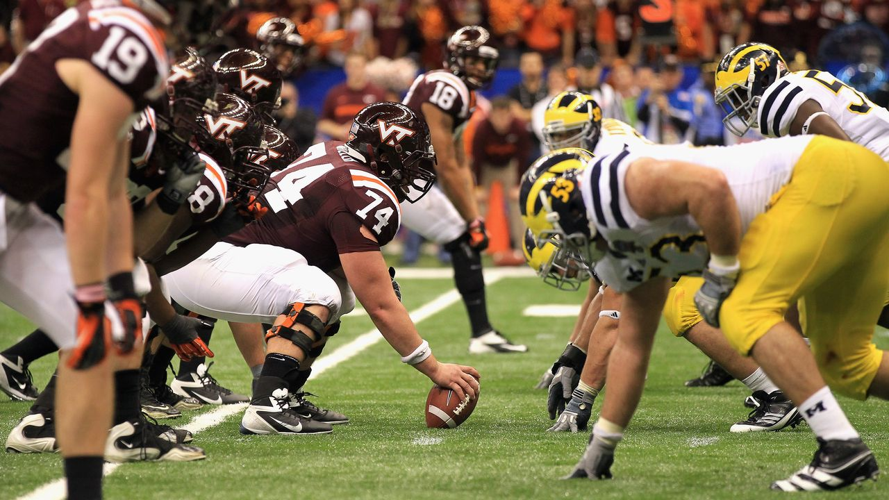 Mon 3 26 Michigan Wolverines Vs Virginia Tech Hokies Football Watch Espn