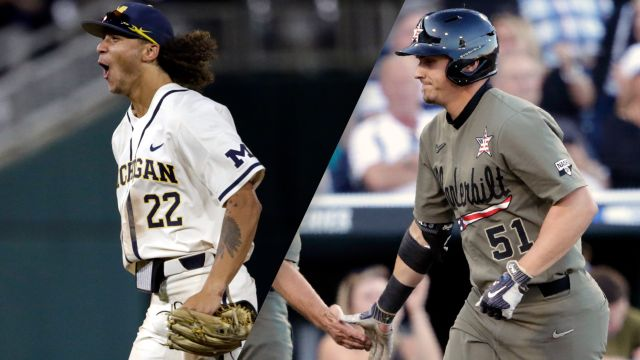 Michigan vs. #2 Vanderbilt (CWS Finals Game 3) (College World Series)