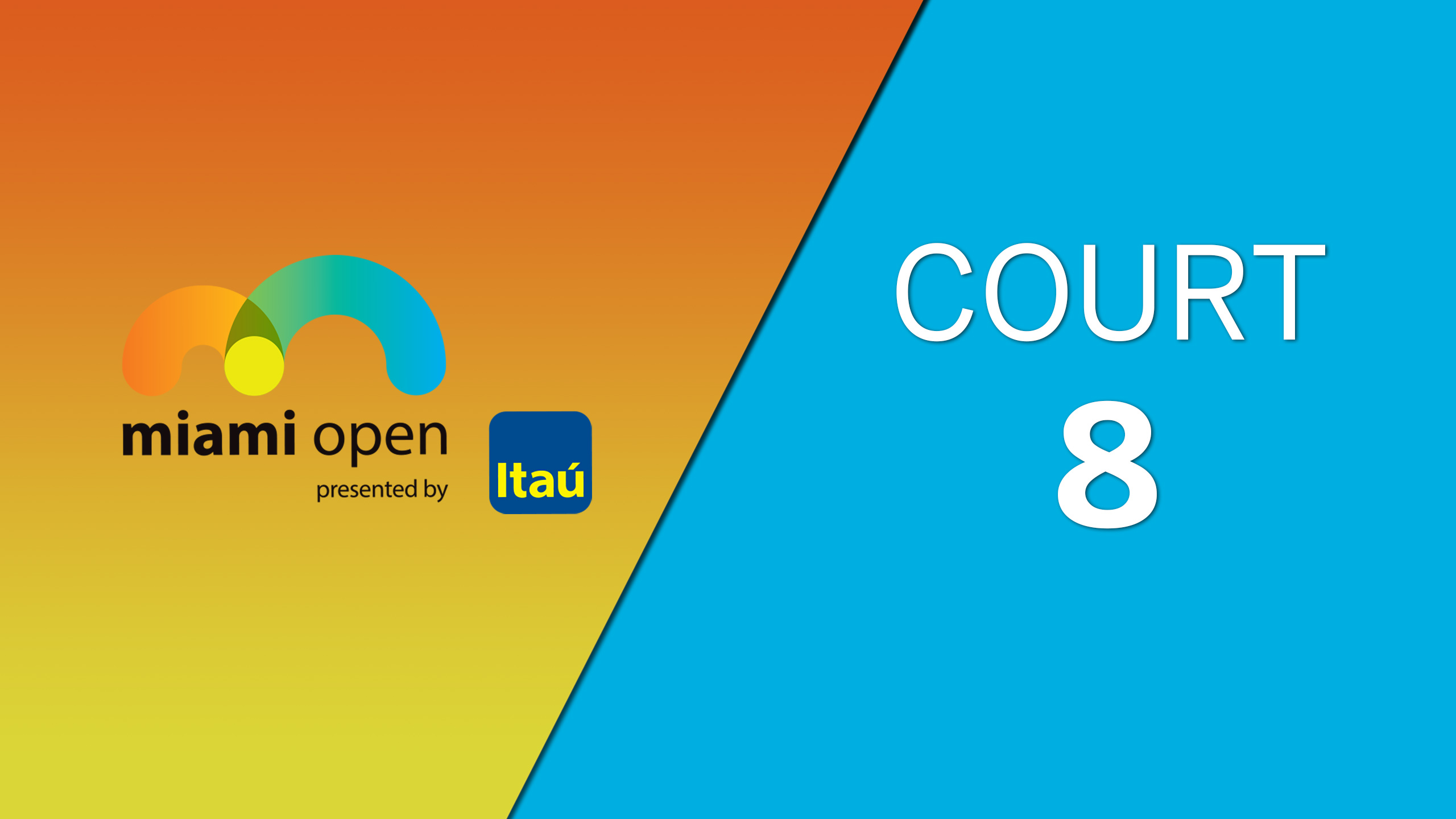 WTA: Court 8 - Miami Open
