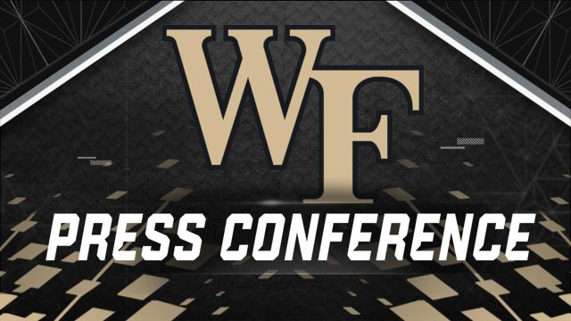 Wake Forest Weekly Football Press Conference