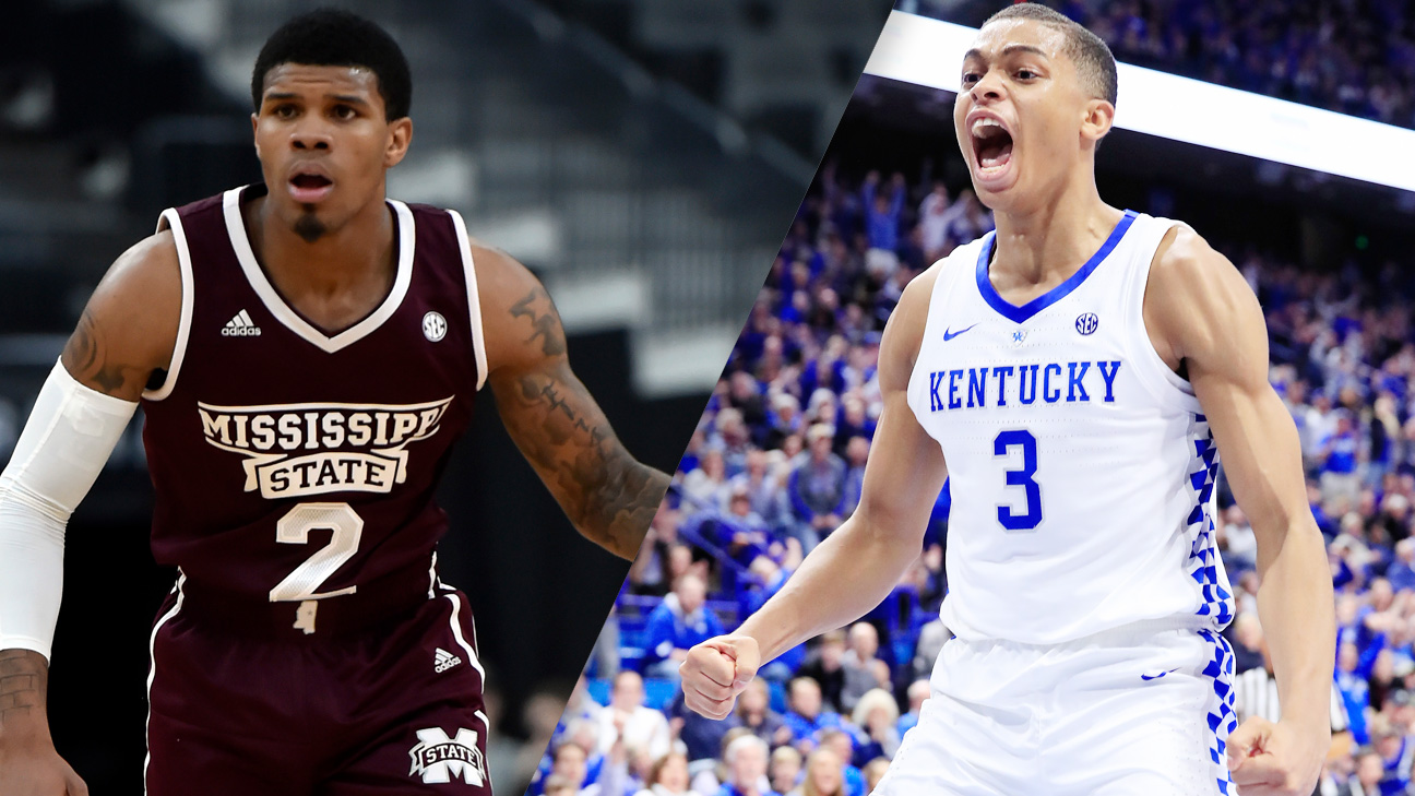 #22 Mississippi State vs. #8 Kentucky (M Basketball) (re-air)