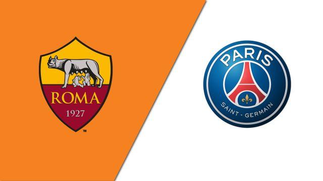 In Spanish-AS Roma vs. Paris Saint-Germain (Semifinal #1)