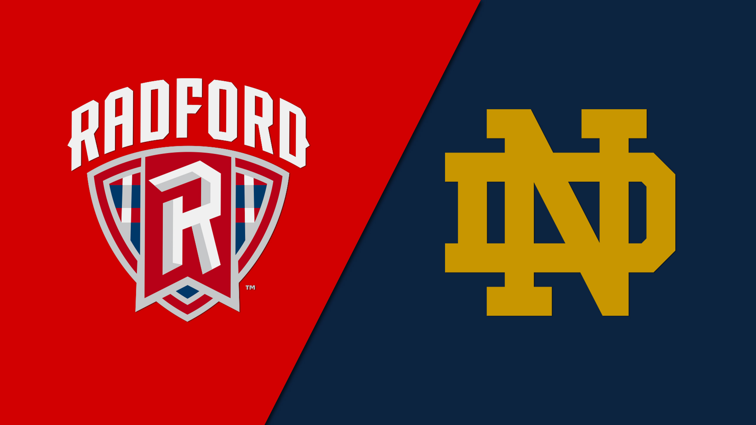 Radford vs. Notre Dame (M Basketball)