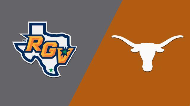 Wed, 11/20 - Texas-Rio Grande Valley vs. Texas (W Basketball)