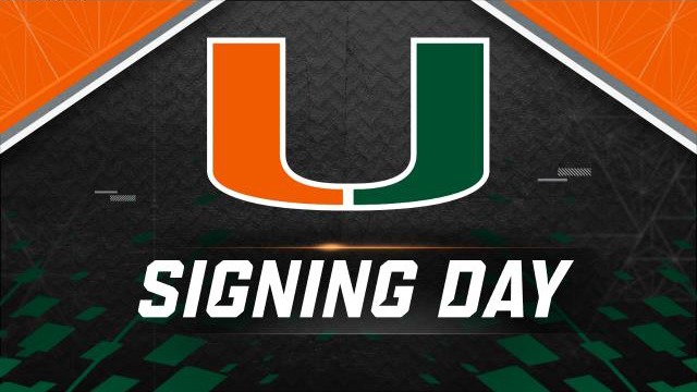 Miami Football National Signing Day