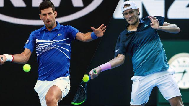 (1) Djokovic vs. (28) Pouille