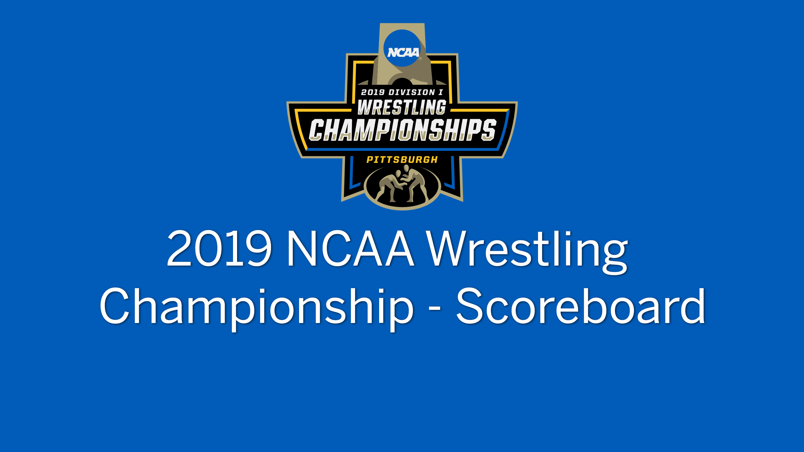 NCAA Wrestling Championship (Scoreboard - Medal Round)