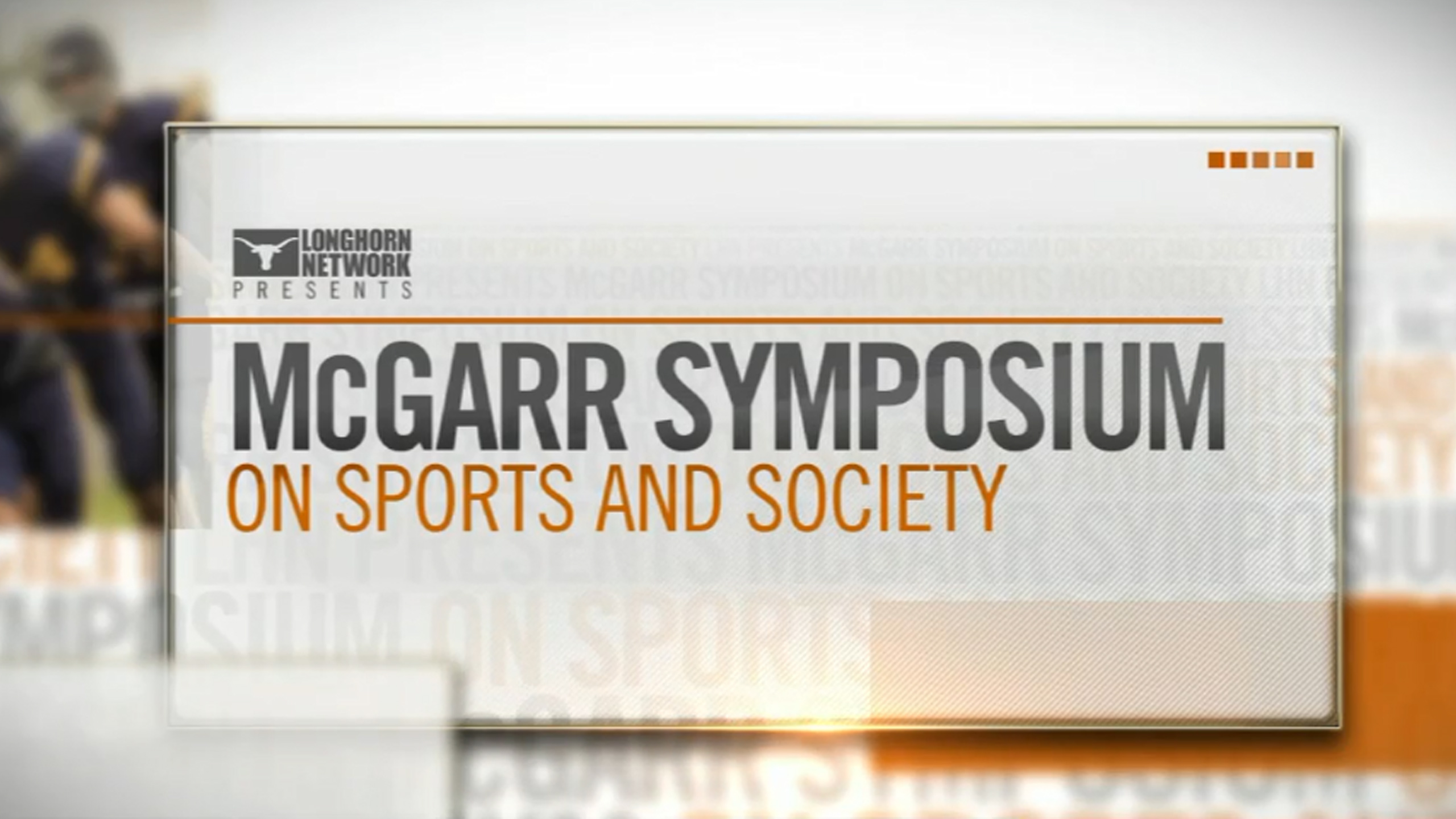McGarr Symposium on Sports and Society: Head Trauma and the Future of Football: Session 1