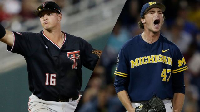 #8 Texas Tech vs. Michigan (Game 11) (College World Series)