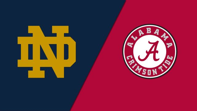 #1 Notre Dame vs. #2 Alabama (re-air)