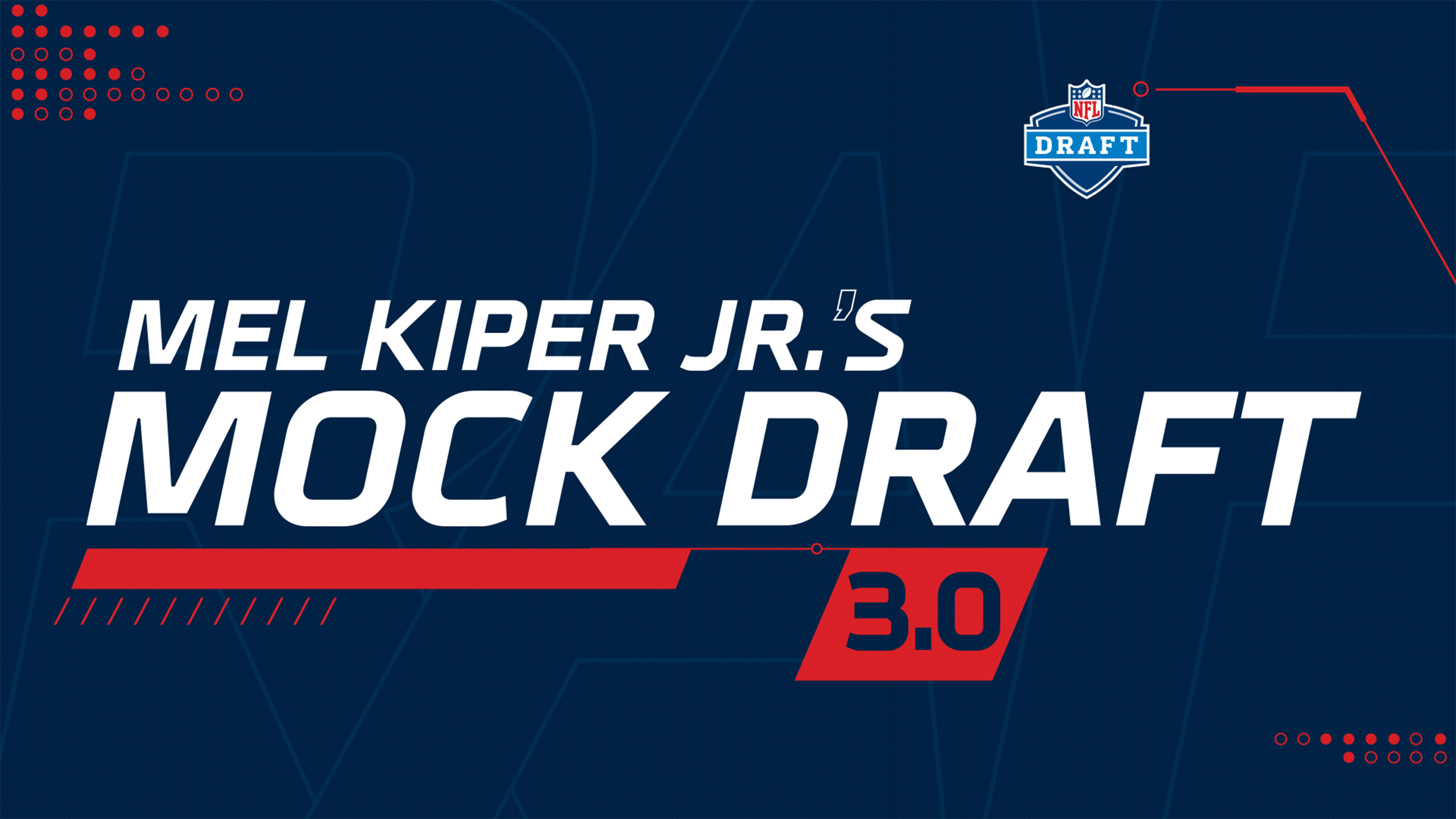 SportsCenter Special: Mel Kiper's Mock Draft 3.0
