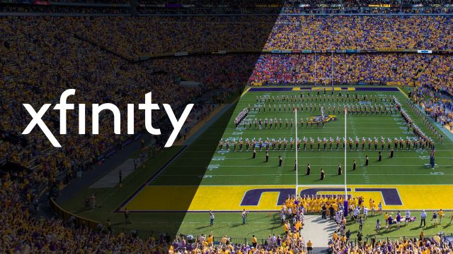 Xfinity SkyCam-Arkansas vs. #1 LSU (Football)
