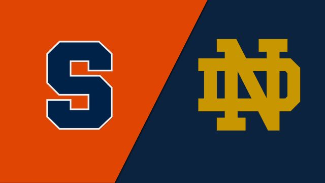 Wed, 1/22 - Syracuse vs. Notre Dame (M Basketball)