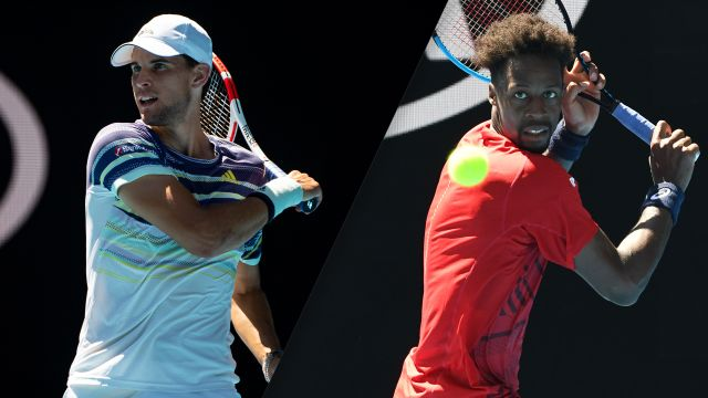 (5) Thiem vs. (10) Monfils (Men's Fourth Round)