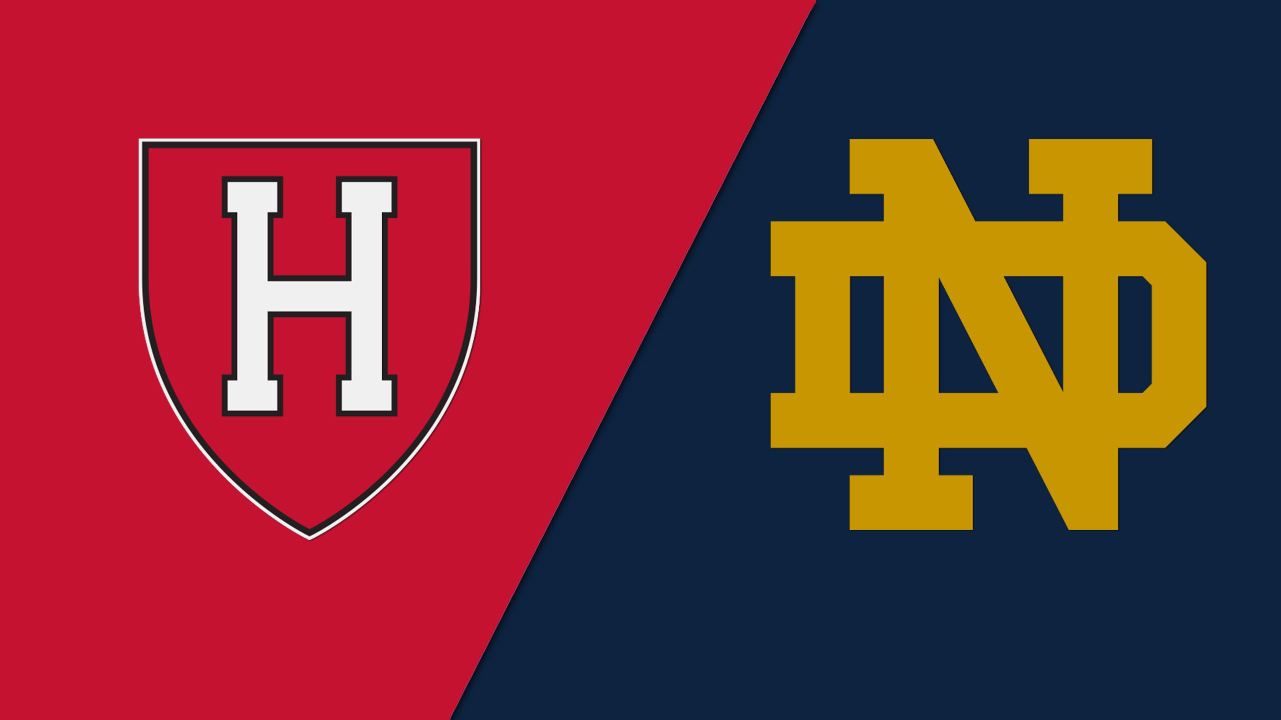 Harvard vs. #1 Notre Dame (W Basketball)