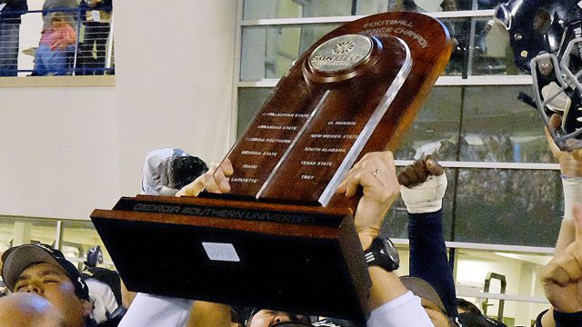 Sun Belt Championship Game Trophy Ceremony